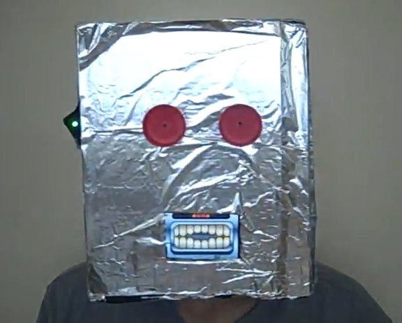 Robot Mask with iPhone